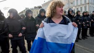俄羅斯示威
