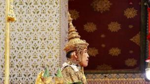 "Thailand""s King Maha Vajiralongkorn sits on the throne during his coronation inside the Grand Palace in Bangkok"