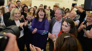 Sinn Féin's Michelle Gildernew couldn't be happier after regaining the Fermanagh and South Tyrone seat