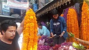 फूलमाला व्यापारी