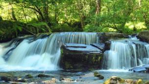 A waterfall at the Taf Fechan River, The Neuadd, near Merthyr Tydfil, as captured by Kevin McCarthy