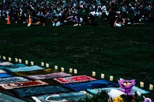 تجمع و ادای احترام مردم شهر اوکلند به کشتهشدگان حادثه کرایست چرچ