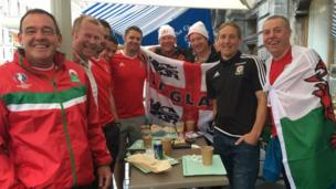 Wales and England fans
