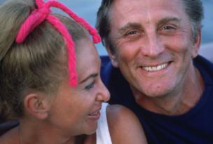 Kirk Douglas with his wife Anne Buydens in Acapulco in 1968