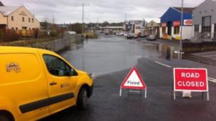 A Rivers Agency truck in Enniskillen