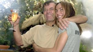 Tony Blackburn and Tara Palmer-Tomkinson on 'I'm a Celebrity Get Me Out Of Here' in 2002