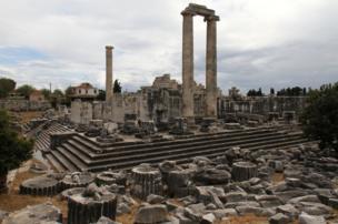 Plinths at Apollo's Temple in Dydine, Turkey