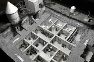 Model of bunker (AP pic)