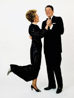 Ronald Reagan dancing with Nancy