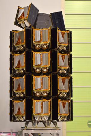 Stack of satellites