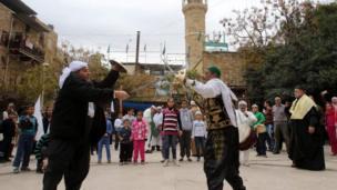 صوفیان لبنان در جشن میلاد پیامبر اسلام