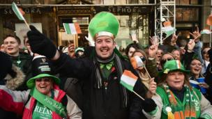 New York City's Irish diaspora were out in force for Friday's parade