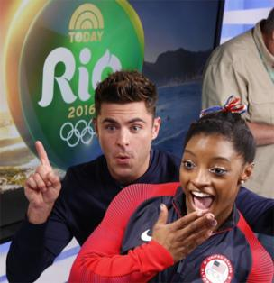 Zac Efron and Simone Biles