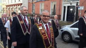 The Apprentice Boys of Derry took part in the parade in the city