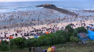 'பௌ நயெலெ', லொம்போக் , இந்தோனீஷியா, பண்டிகை