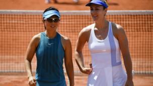 Gabriela Dabrowski của Canada và Xu Yifan của TQ