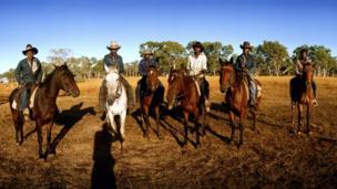 Stockmen known as the Gibb River Boys