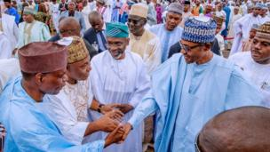 Aarẹ Muhammadu Buhari naa lọ Yidi