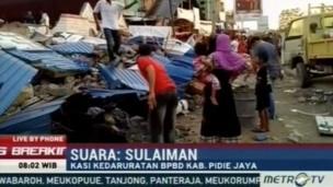 Truyền hình địa phương đưa tin động đất