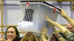Ballot box afta polls close