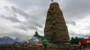 Ballymacash bonfire Lisburn