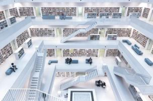 """Norbert Fritz won the Cities category with his image of the sparse interior of Stuttgart's city library. He said, """"With its wide open space in the centre... it has a very unique atmosphere, where you can broaden your knowledge."""""""