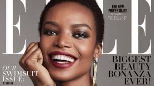 Le top model angolais, Maria Borges, devient la première africaine à poser en couverture d'Elle US de ce siècle.