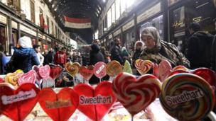 大马士革旧城区的哈米迪亚大市场