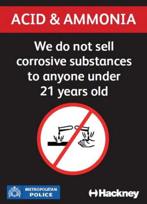 Scheme urges Hackney traders to not sell acid to youths - BBC News