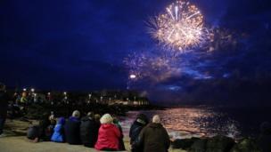 Fireworks at Air Waves Portrush