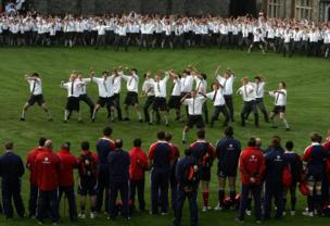 Christ's College Christchurch Student Haka to Lions