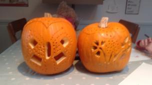 Katie and Lucy's pumpkins