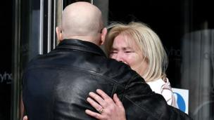 Kate Nash, whose 19-year-old brother William was shot dead, was comforted by campaigner Eamonn McCann