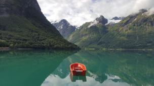 Efe Aydoğan bu fotoğrafı Norveç'te çekti.