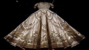 The Coronation Dress of Queen Elizabeth II designed by Norman Hartnell in 1953,