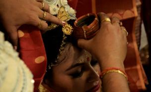 A woman at her wedding