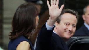 David Cameron en Downing Street.
