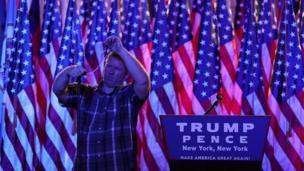 Preparativos de la campaña de Trump en Nueva York