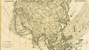 Bộ 'Atlas de Toutes Les Parties Connues du Globe Terrestre' của Rigobert Bonne, xuất bản ở Geneva vào khoảng năm 1760 (Hình của Universal History Archive/Getty Images)