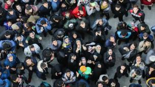 عکس خبرگزاری ایرنا از بالای برج میدان آزادی