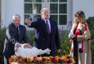 الرئيس الأمرريكي دونالد ترامب والسيدة الأولى ميلانيا ترامب
