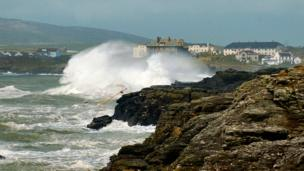 Rough seas at Trearddur Bay, Anglesey