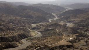 Rugged terrain near Wana in Pakistan's South Waziristan tribal area