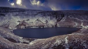 a lake at Pen y Fan