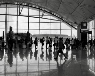 Airport concourse, Hong Kong