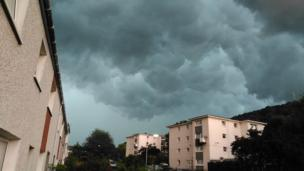 Dramatic looking storm clouds appeared overhead and were pictured by Andy Weir from Galashiels