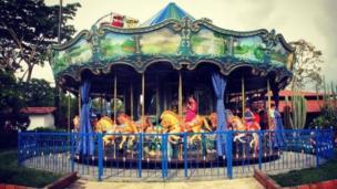 Carrusel en el Parque del Café de Quindío, Colombia.