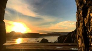 Mathew Hughes took this picture of Criccieth beach, Gwynedd