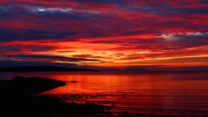 Sunset over Gairloch