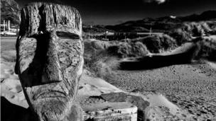 Statues on Barmouth beach